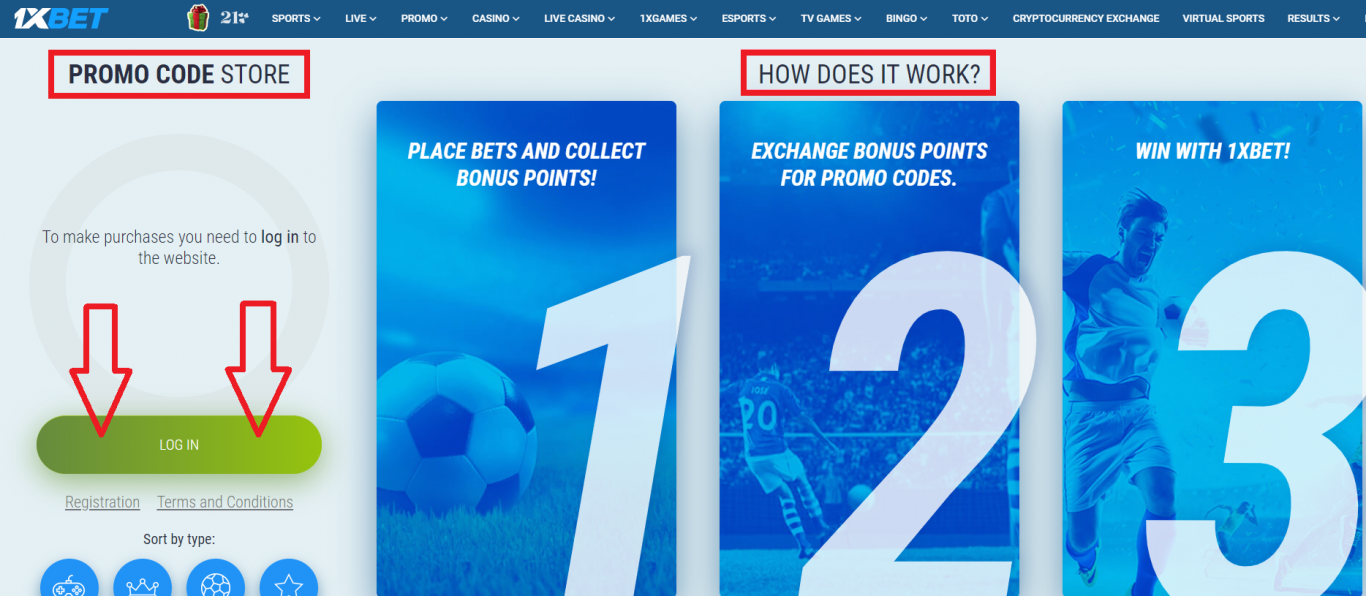 1xBet promo code Nigeria free bet and their use